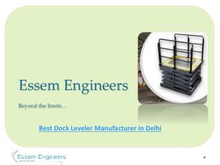 Best Dock Leveler Manufacturer in Delhi NCR