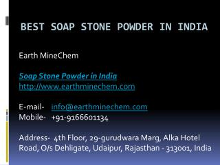 Best Soap Stone Powder in India