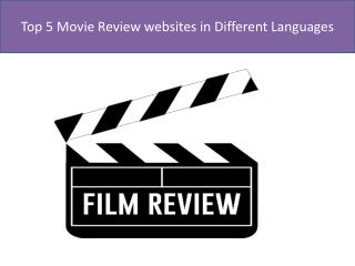 Top 5 movie review websites in different languages