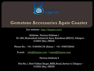 Gemstone Accessories Agate Coaster