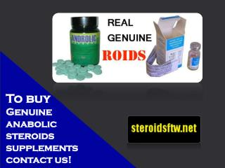 To buy genuine anabolic steroids supplements contact us!