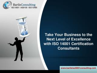 Take your business to the next level of excellence with iso 14001 certification consultants