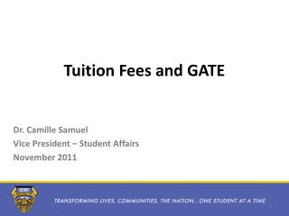 Tuition Fees and GATE