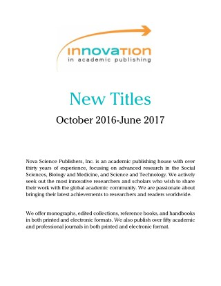 Catalog_2017-Nova Science Publishers