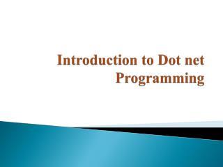 Dot Net Training in Jaipur
