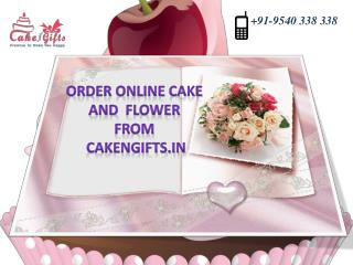Order online cake and flowers from CakenGifts.in