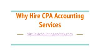 Why hire CPA Accounting services
