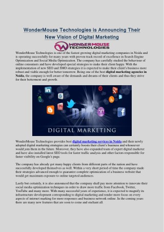 Top Digital Marketing Company in Noida, Delhi NCR - WonderMouse