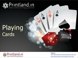Playing Cards - Buy Custom Playing Cards Games Online in India