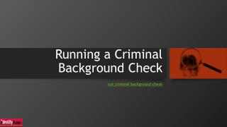 Running a Criminal Background Check