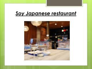 Soy japanese restaurant