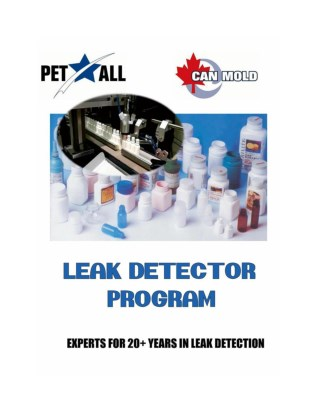 Leak Detectors for Leak Testing of Bottles by Pet All Mfg Inc