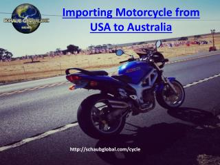 Importing Motorcycle from USA to Australia