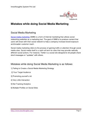 6 Mistake while doing Social Media Marketing