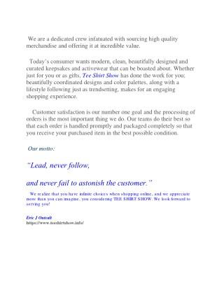 Tee Shirt Show - Online T-Shirt Store - Online T-Shirts