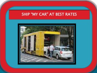 Ship My Car at best rates
