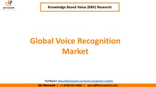 Global Voice Recognition Market (2017-2023)