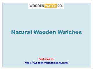 Natural Wooden Watches