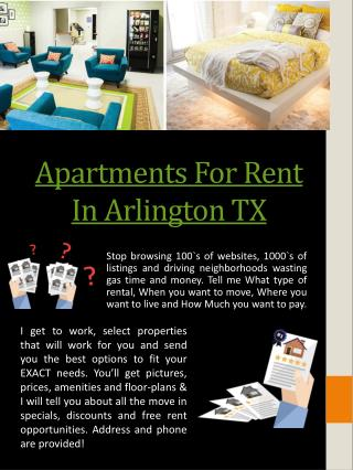 Apartments For Rent In Arlington Tx