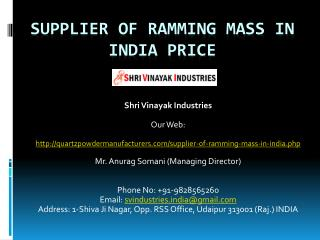 Supplier of Ramming mass in India price