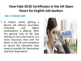 How Fake GCSE Certificates in the UK Open Doors for English Job-Seekers