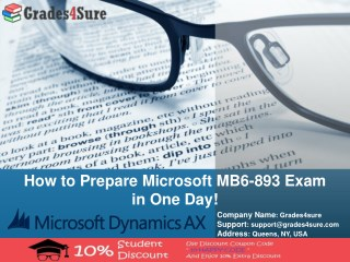 Latest Microsoft MB6-893 Real Exam Questions With Verified Microsoft MB6-893 Question Answers Available on Grades4sure