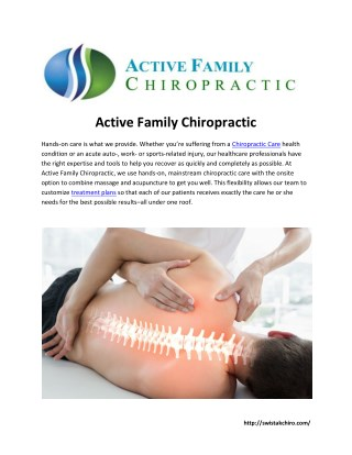 chiropractic treatment md