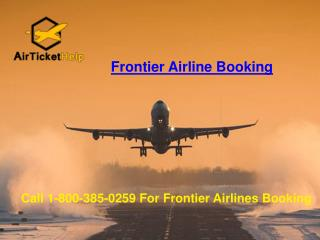 Frontier Airline Booking