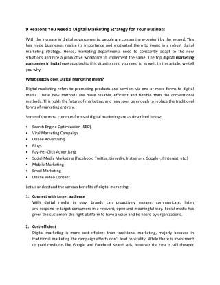 Digital Agency in Bangalore | Digital Marketing Company in India