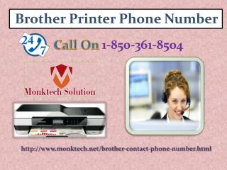What does Brother Printer Phone Number 1-850-361-8504 mean?