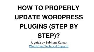 How to Properly Update WordPress plugins (Step By Step)?