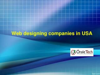Web designing companies in USA|Best web Designing company in USA