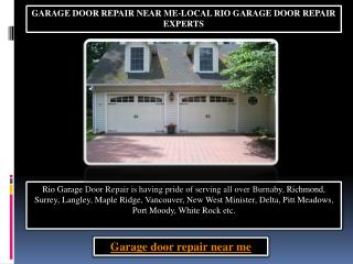 Garage Door Repair near Me-Local Rio Garage Door Repair Experts