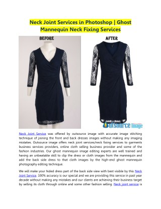 Neck Joint Services in Photoshop | Ghost Mannequin Neck Fixing Services