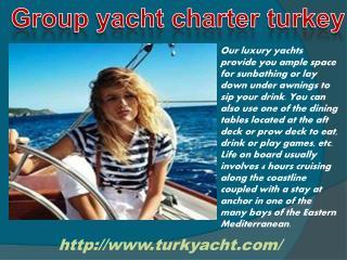 Yacht charter destination turkey