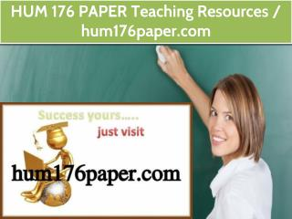 HUM 176 PAPER Teaching Resources /hum176paper.com