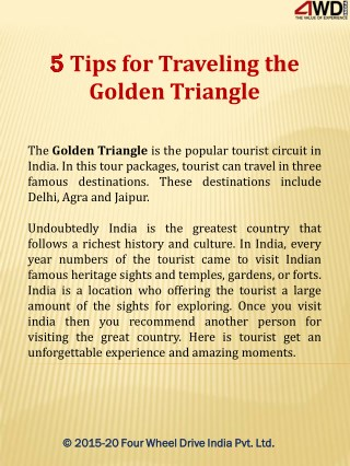 5 Tips for Traveling the Golden Triangle