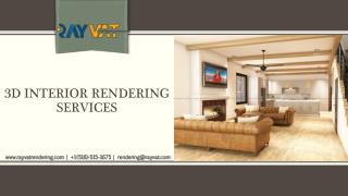 3D Interior Rendering Services | 3D Interior Design Services