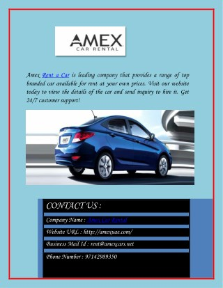 Budget Car Rental in Dubai