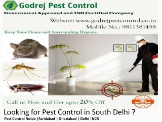 Looking for Pest Control in South Delhi Contact Godrej