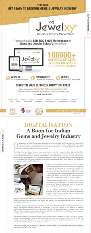 This 2017 GET READY TO REDEFINE GEMS & JEWELRY INDUSTRY