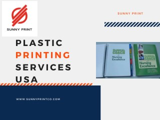 Plastic Printing services usa