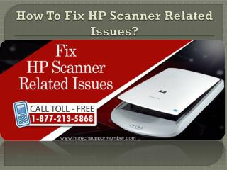 Resolve HP Scanner Related Issues
