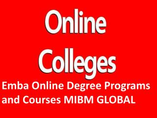 Emba Online Degree Programs and Courses MIBM GLOBAL