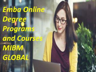 Emba Online Degree Programs and Courses