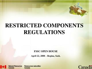 RESTRICTED COMPONENTS REGULATIONS