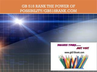 GB 518 RANK The power of possibility/gb518rank.com