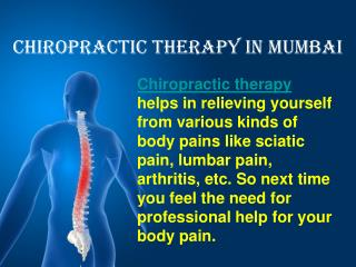 Back Pain Relief Mumbai