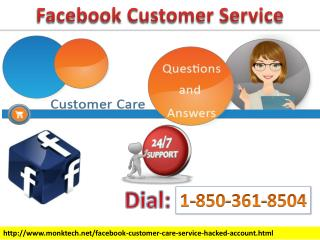 Solve Technical Bugs By Taking Facebook Customer Service 1-850-361-8504