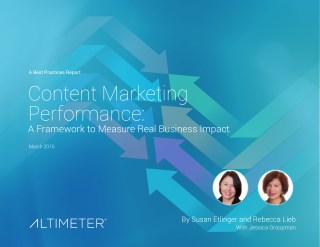 Report content marketing performanceContent Marketing Performance: A Framework to Measure Real Business Impact